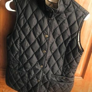 Black goose down vest